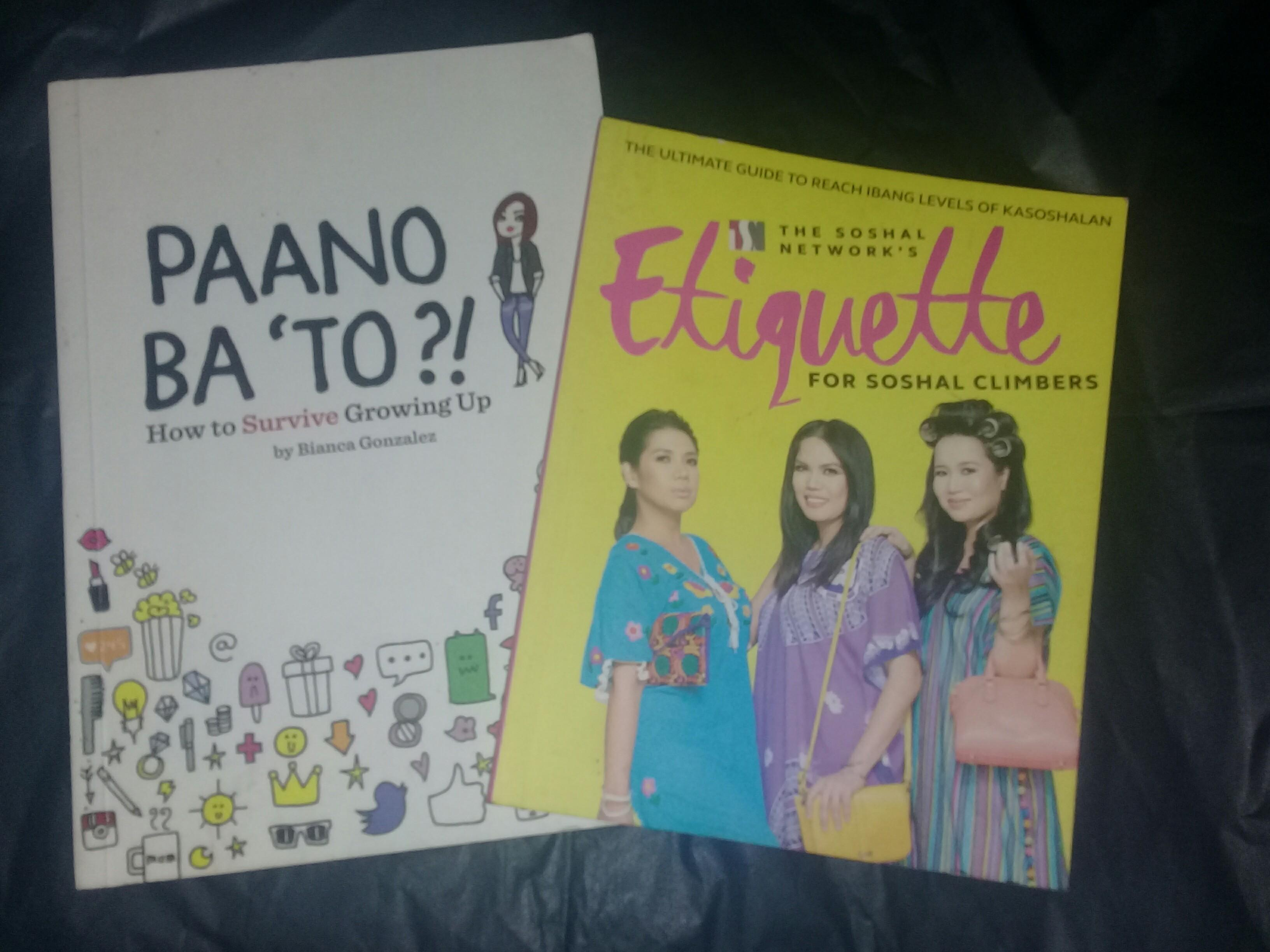 PINOY BOOKS BUNDLE: PAANO BA TO? BIANCA GONZALES & ETIQUETTE FOR SOSYALCLIMBERS