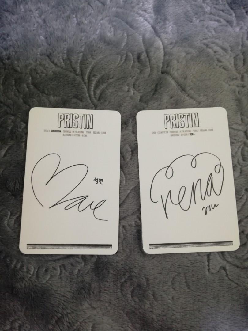 Pristin photocard - Hi! Pristin album (Rena & Sungyeon)