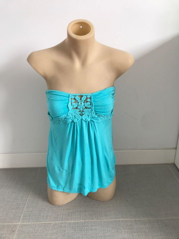 Tally weijl (Zara group) size M 10 top strapless vgc worn once