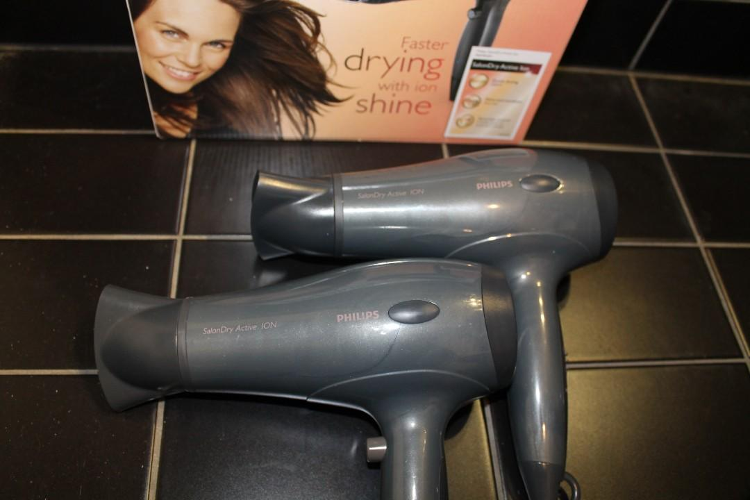 TWO hairdryers with one set original packaging & Instructions!