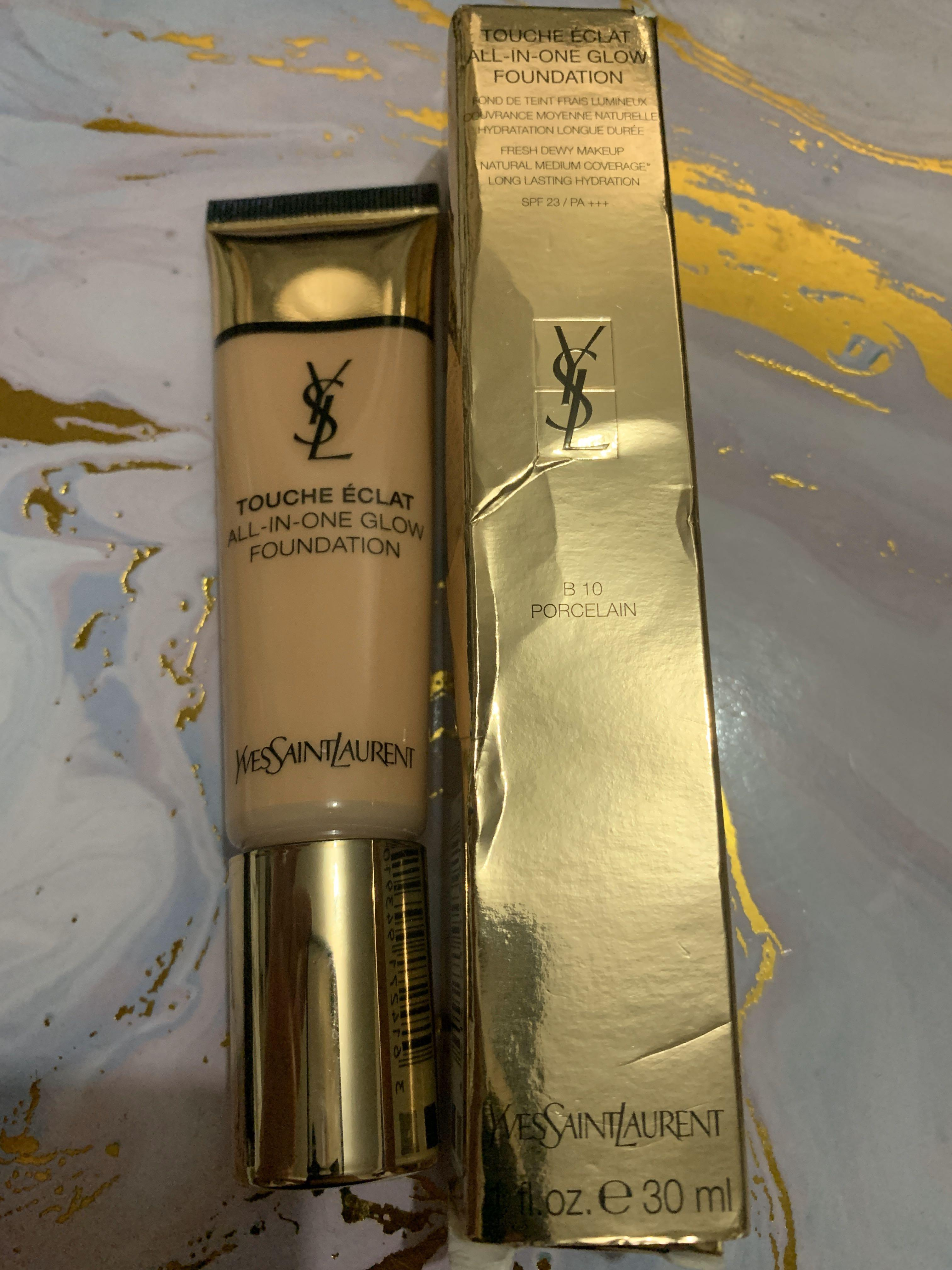 YSL Touche Eclat All in One Glow foundation in B10 Porecelain