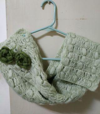 綠色小花圍巾#換物