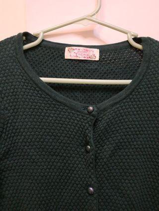 墨綠色上衣/可當小外套#換物