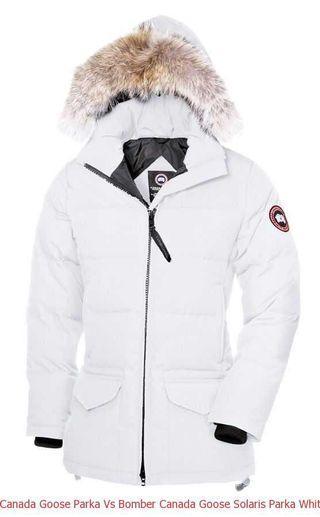 White Canada Goose Jacket (small)