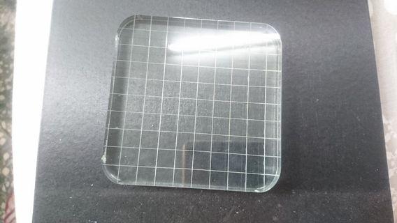 DIY日記印章配件#網格方正壓克力板 (10*10cm)