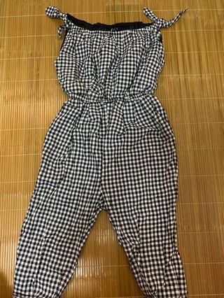 PAZZO-女裝格紋連身褲