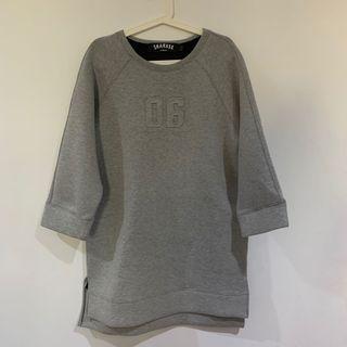 H:CONNECT灰色厚長版上衣