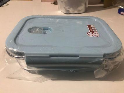 耐熱玻璃保鮮盒兩格