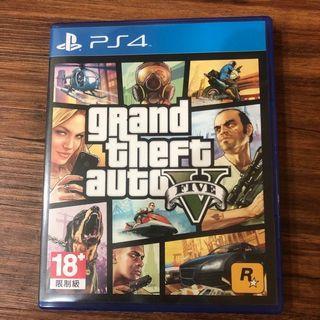 9.9成新 PS4 GTA5 俠盜獵車手5 繁體 中文版 GTA 5 Grand Theft Auto V