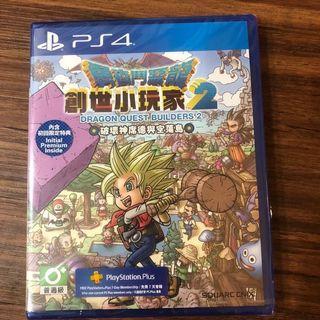 全新 PS4 勇者鬥惡龍 創世小玩家2 破壞神席德與空蕩之島 中文版
