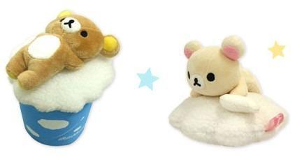 日本 拉拉熊 懶懶熊 小白熊 懶妹 白雲 雲朵 娃娃 2009年 稀有絕版限定