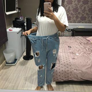 Boyfriend Jeans CELANA DENIM BIG SIZE JUMBO SIZE OVER SIZE