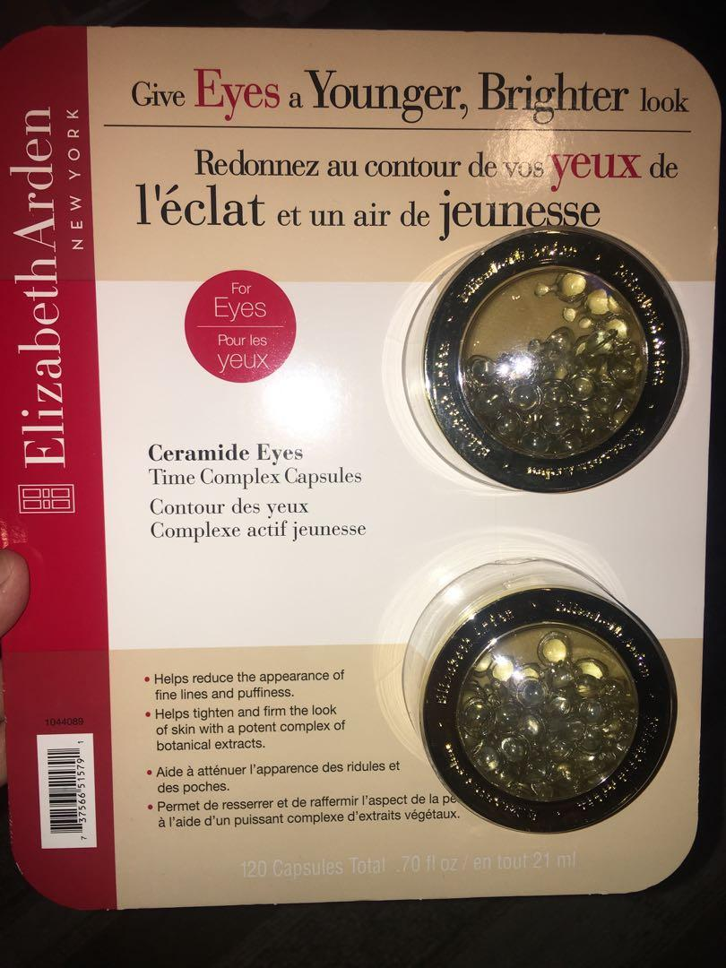 2 brand new in packaging Elizabeth Arden ceramide eyes time complex capsules