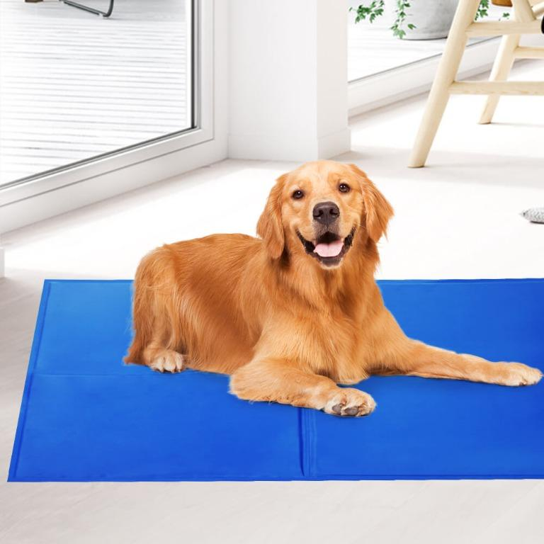 2X Pet Cooling Bed Gel Mat Dog Cat Non-Toxic Cool Pad Puppy Cold Summer 50×40
