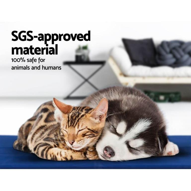 2X Pet Cooling Gel Mat Dog Bed Cat Beds Non-Toxic Cool Pad Puppy Summer 65×50