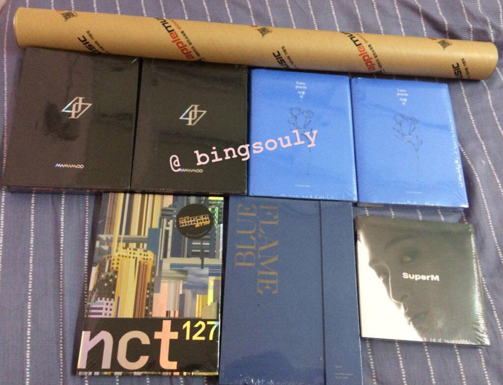 [ SoulyArrival ] IU LOVE POEM, MAMAMOO REALITY IN BLACK, ASTRO BLUE FLAME, NCT 127 SUPERHUMAN AND SUPER M MARK ALBUMS ARE HERE !