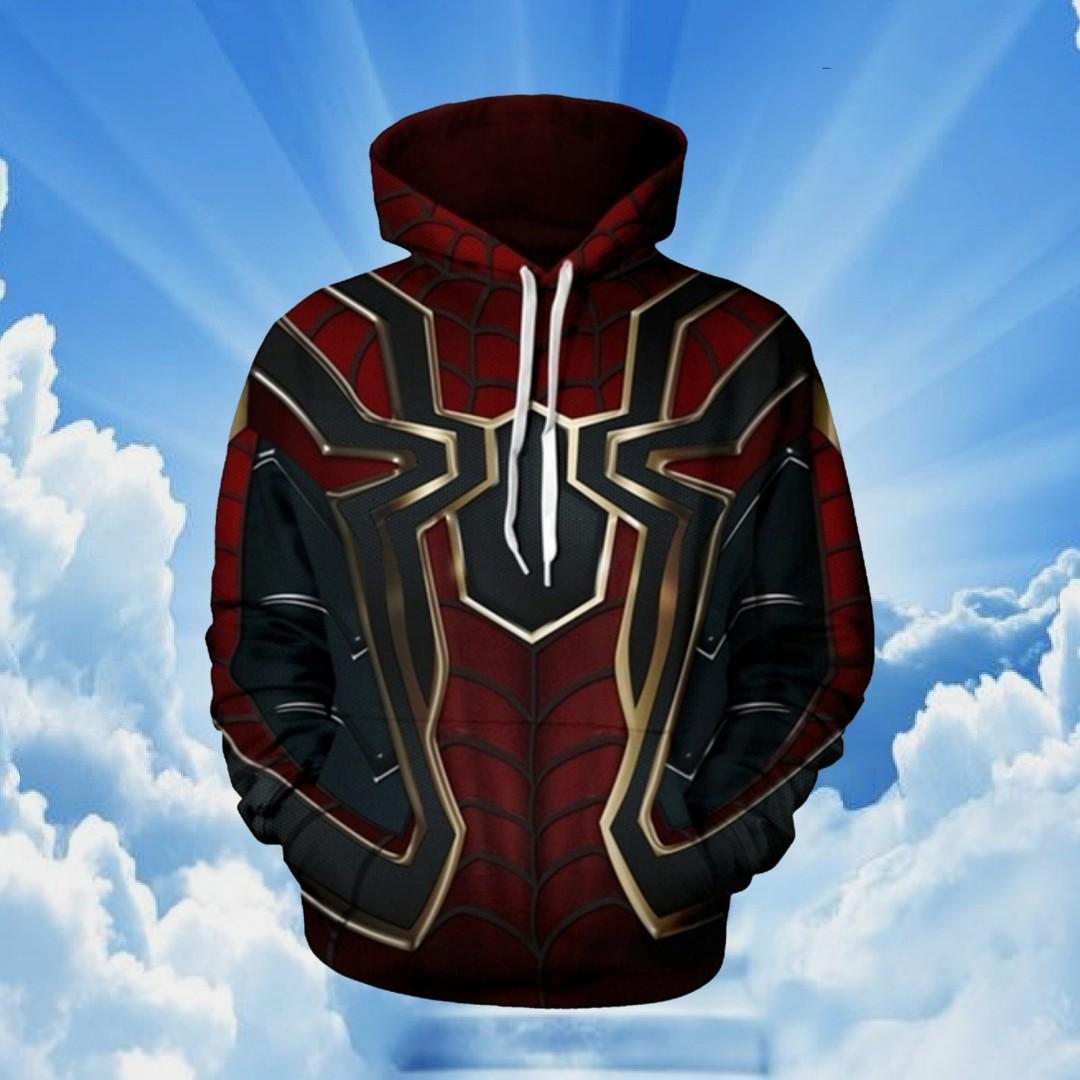 Avengers Infinity War Spiderman 3d Hoodie Iron Spider Man