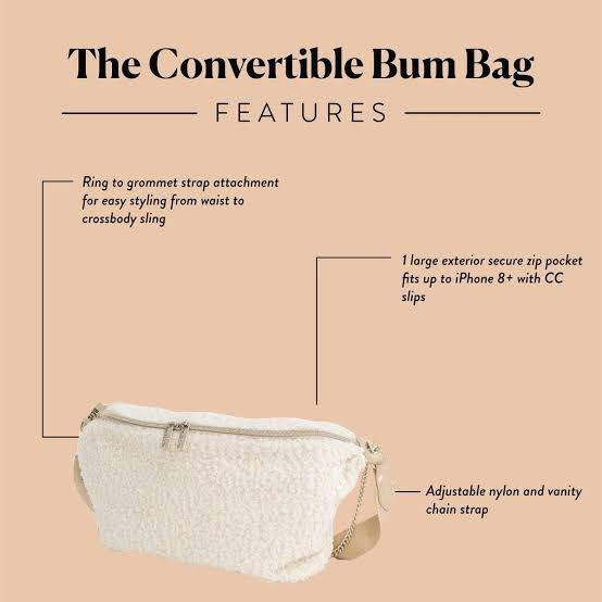 BEIS by Shay Mitchell - Convertible Bum Bag in Beige