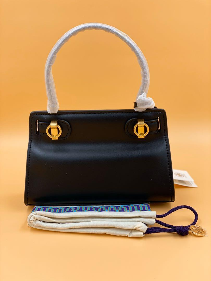 Brand New Authentic Tory Burch Lee Radziwill Petite Bag Black Leather