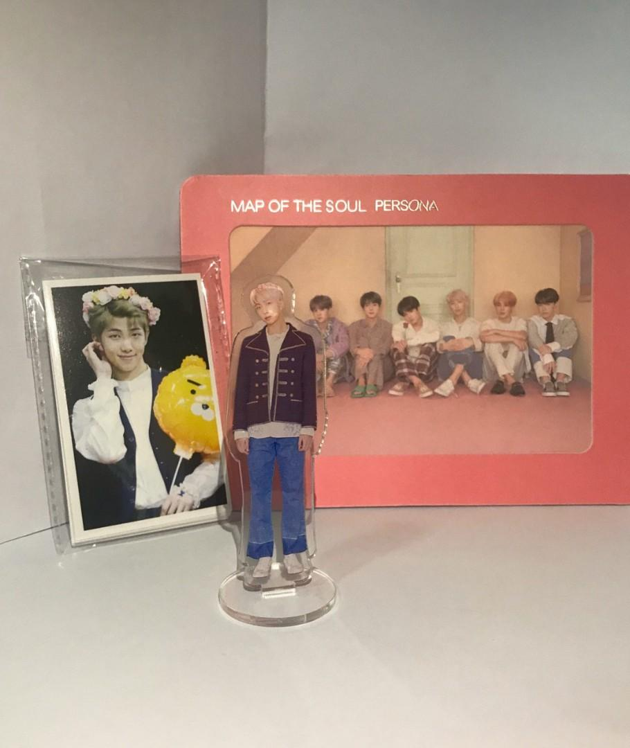 Bts rapmon namjoon set standee photo frame photocard