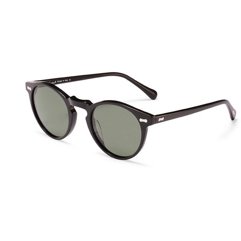 Carfia polarized sunglasses black Gregory peck uv400