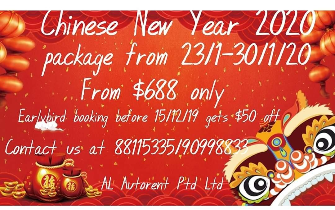 CNY Package 23-30/1. Rental from $688 only .Contact us at 88115335/90998833