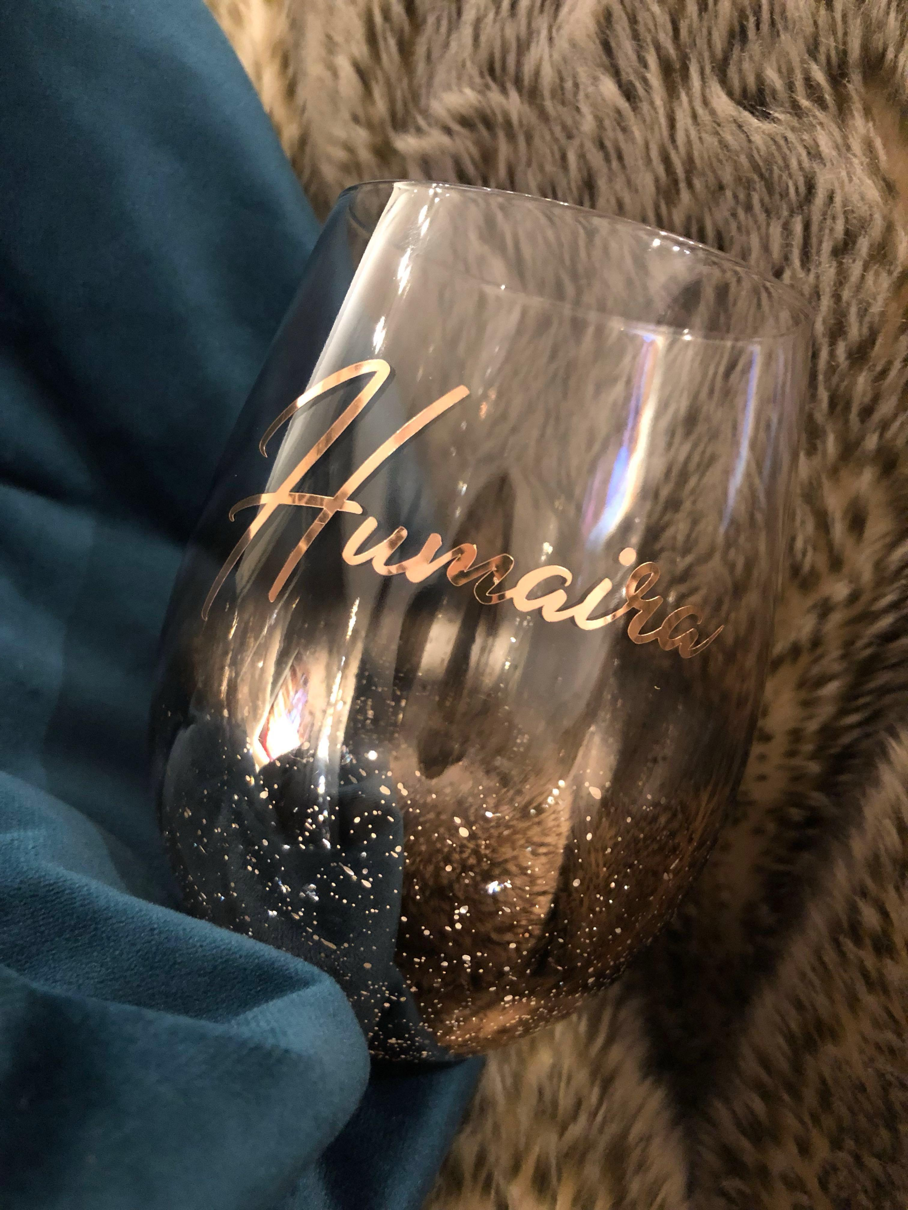 SOLD OUT Custom Chrome Bottom Glass Cup | Perfect gift for birthdays, anniversaries or for your bridesmaids, Christmas