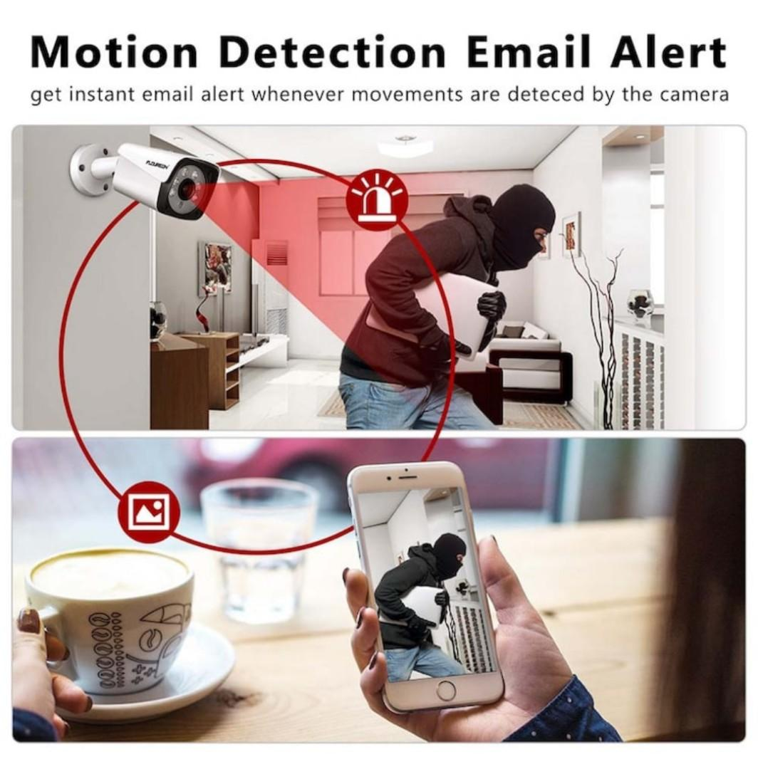 FLOUREON 4 channel 5MP HD AHD security camera system video DVR recorder