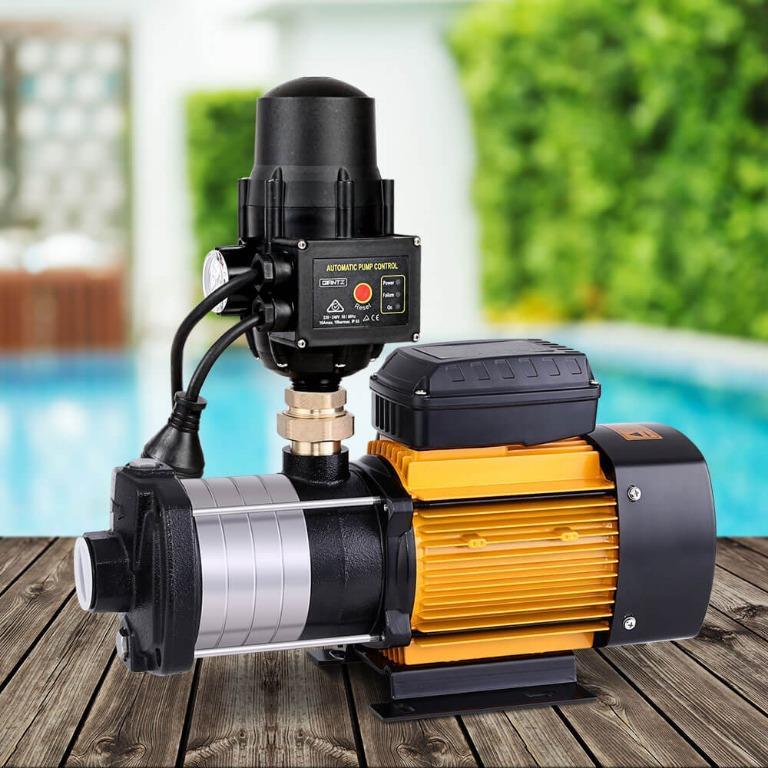Giantz Multi Stage Water Pump Pressure Rain Tank Garden Farm House Irrigation 2000W Black Controller