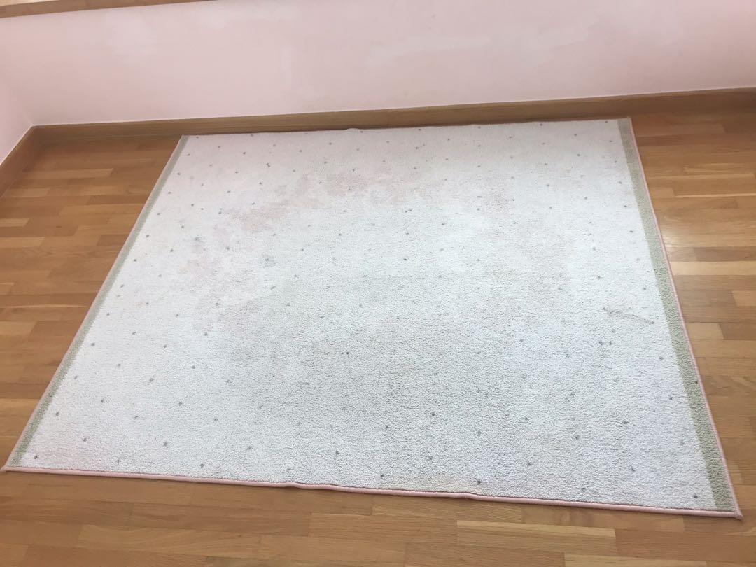 Ikea Raring Low Pile Pink Rug For