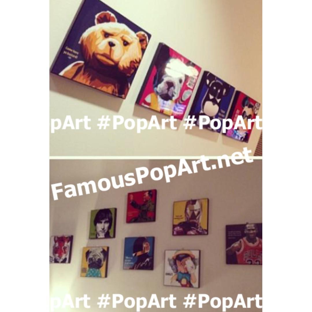 KAWS OMG Sleep Inside Out Sadness PopArt! Portrait Pop Art