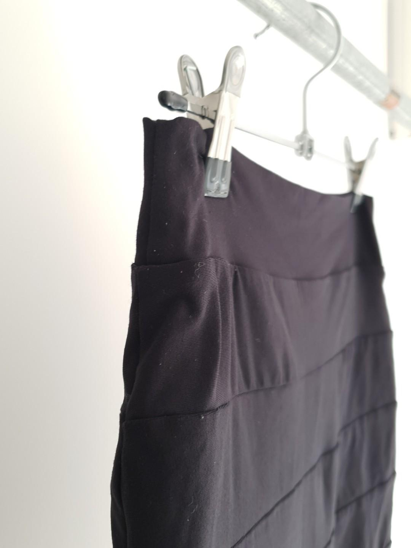 KOOKAI Slinky Bodycon Line Detail Black Mini Skirt