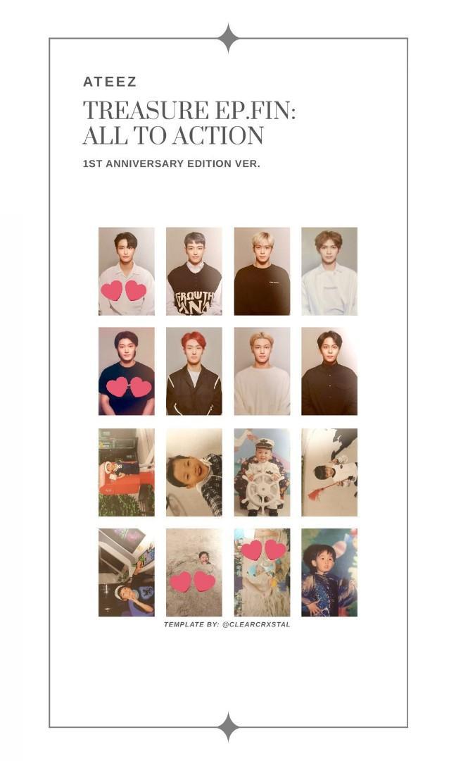 [LF / WTB] ATEEZ TREASURE EP: FIN ANNIVERSARY EDITION PHOTOCARD
