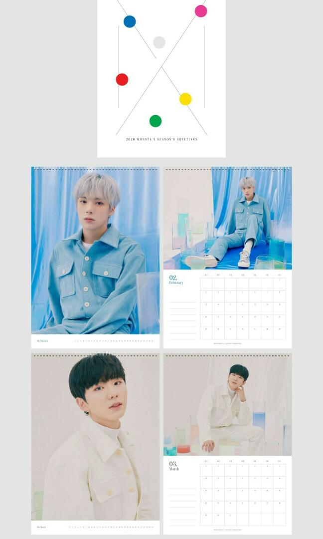 [LOOSE ITEMS & PRE-ORDER] 2020 MONSTA X SEASON'S GREETINGS EVERY 'MON'TH DESK CALENDAR
