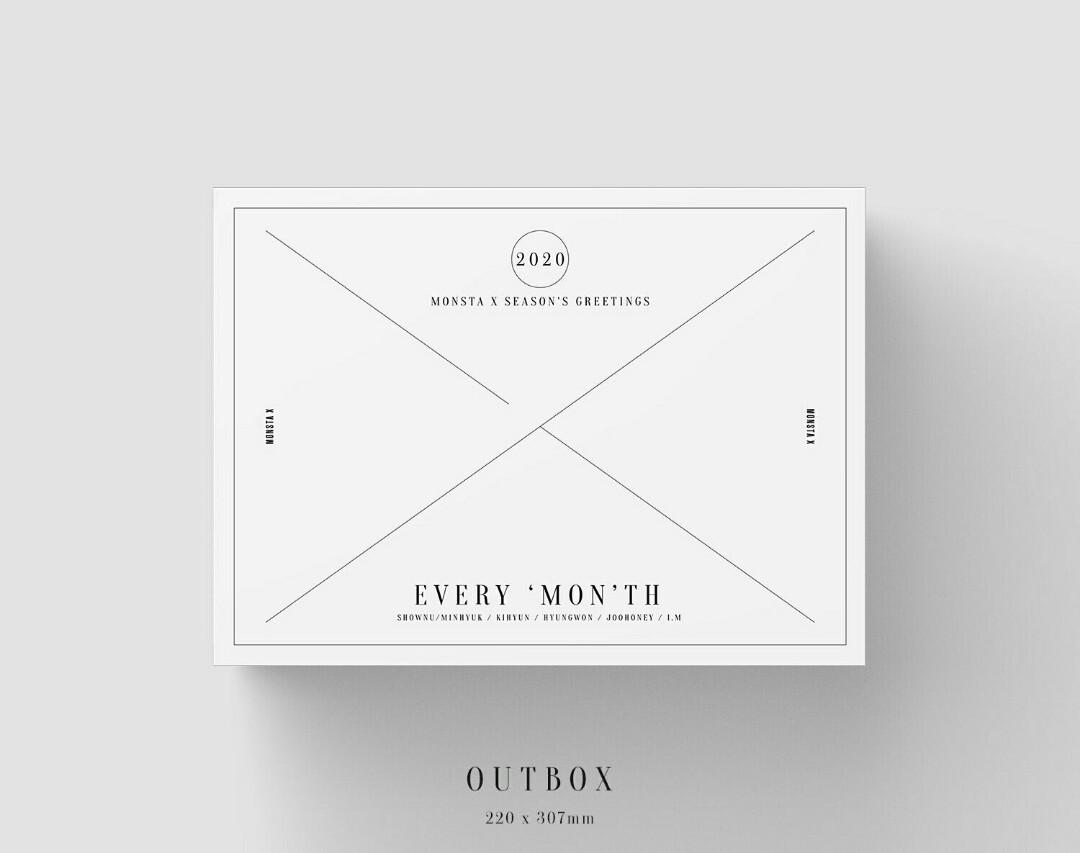 [LOOSE ITEMS & PRE-ORDER] 2020 MONSTA X SEASON'S GREETINGS EVERY 'MON'TH OUTBOX