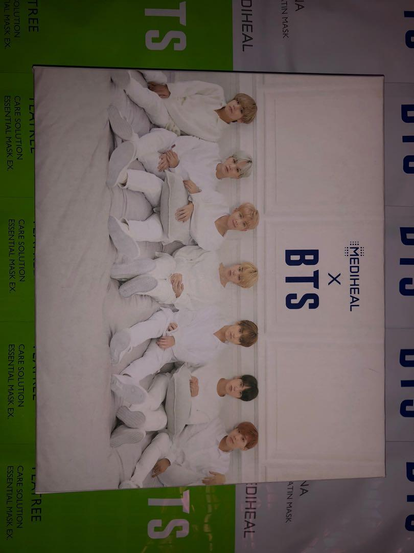 MEDIHEAL X BTS Facial Mask Sheet Special Set/Mask Sheet 10ea + BTS Photocard 14ea