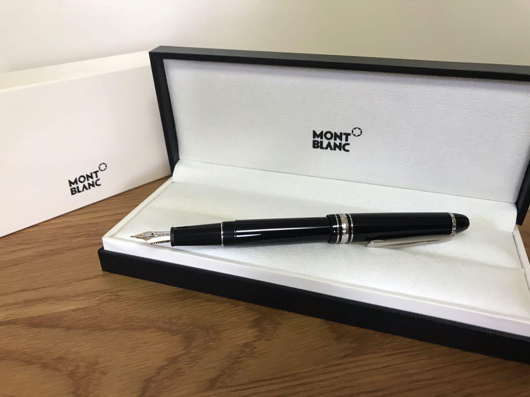 Montblanc Meisterstück Le Grand Platinum-coated fountain pen