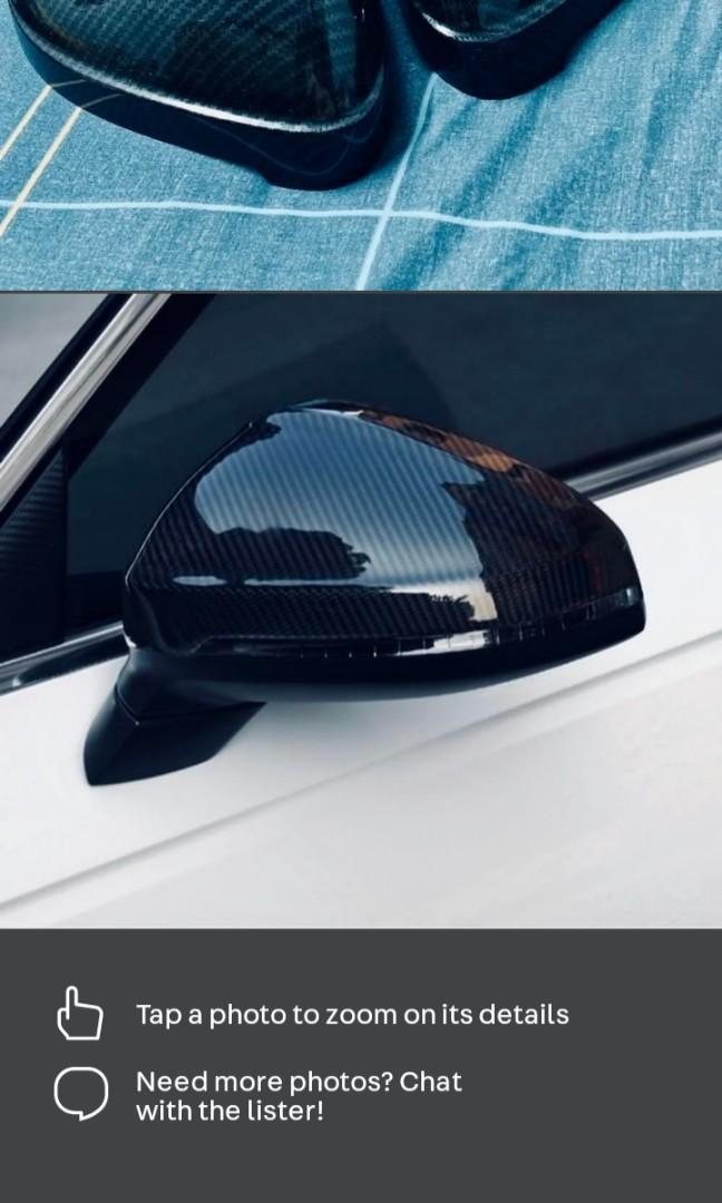 New Audi A4 (17-19) Side Mirror! Carbon Black Cover