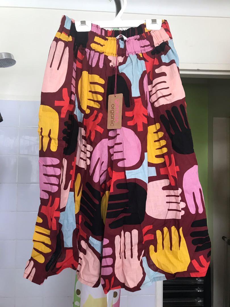 "New! Cute GORMAN ""Palm Farm Hands"" cotton skort pants * size 10"