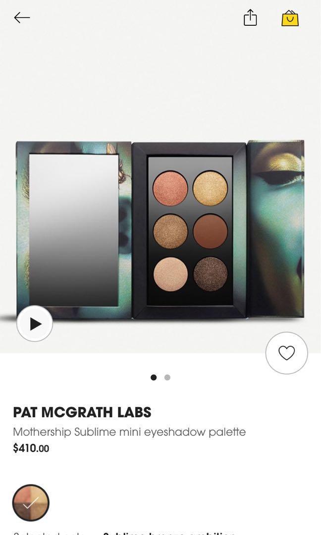PAT McGrath 6色眼影