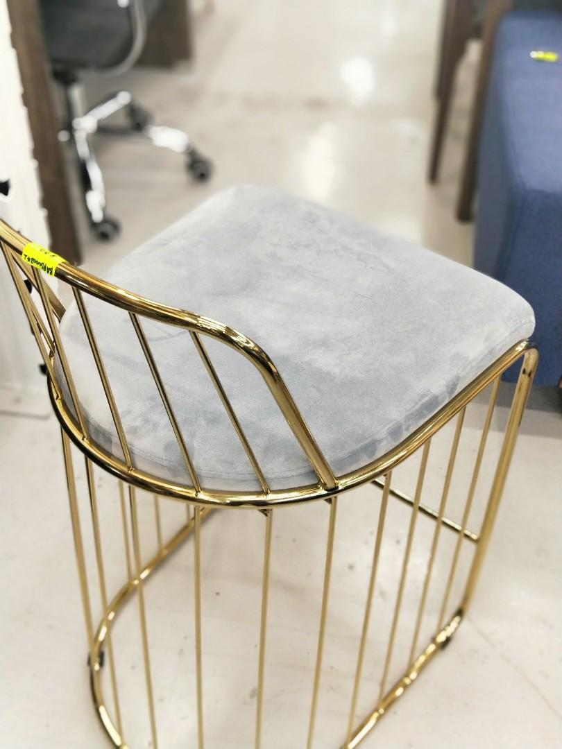 STEELE Counter Bar Chair with GOLD FRAME