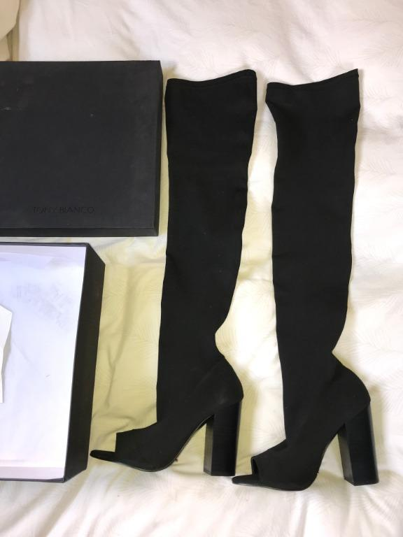 Tony Bianco - Minnie Over the Knee Boots, Black Onyx