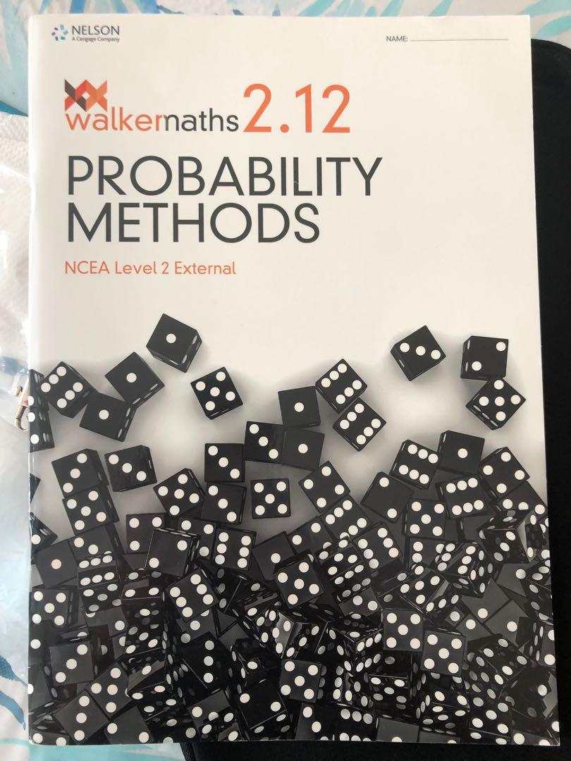 walkermaths 2.12 probability methods ncea statistics external book