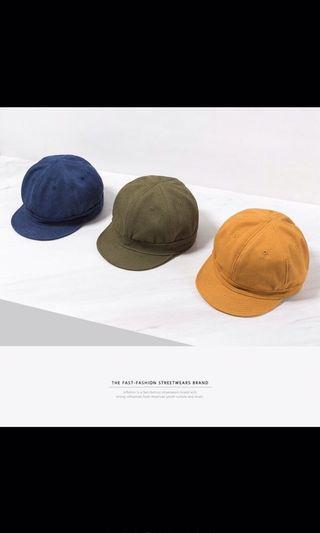 黃色報童帽 帆布 小偷帽 日系 日雜