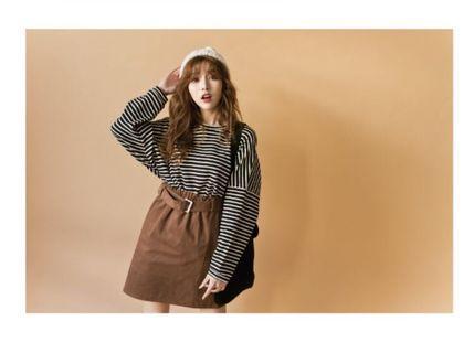 Lulu's 細橫紋縮口袖上衣