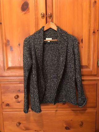 St. John's bay - knitted cardigan, salt and pepper, speckled (S)