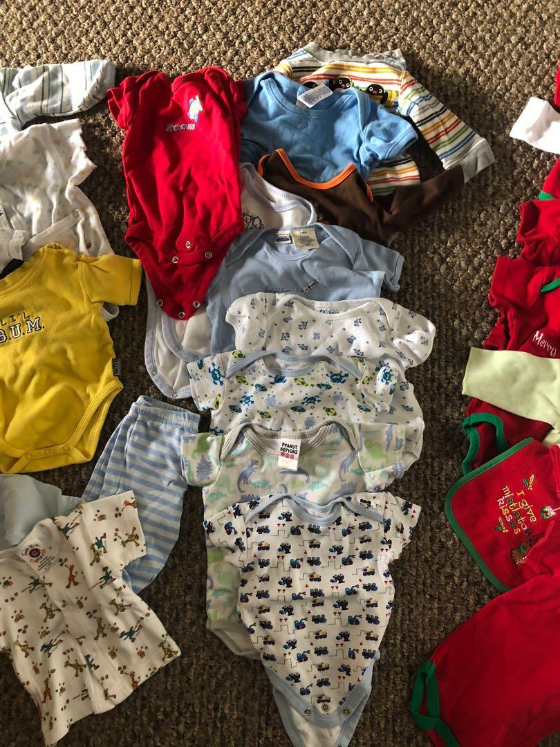 0-6 month onesies and more clothes up to 2T! Over 40 items