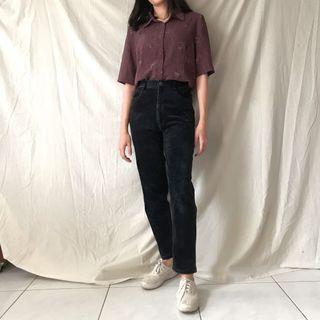Teresa Corduroy Vintage Pants Celana Thriftshop Thrift Shop