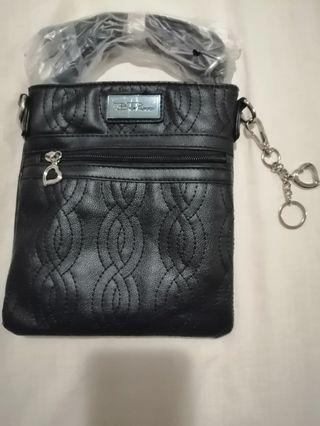 Bella Russo black quilted cross-body purse