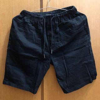 運動褲 短褲 色褲 黑色